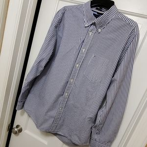 Tommy Hilfiger blue/white striped button d…